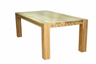 1. Stół S1 Jesionowy - sęki zaprawione cyną
