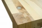 6 Stół S1 Jesionowy - sęki zaprawione cyną